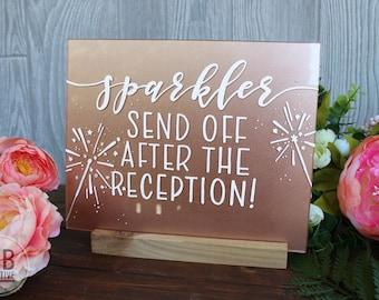 Sparkler Send Off Sign, Rose GoldAcrylic/plexiglass
