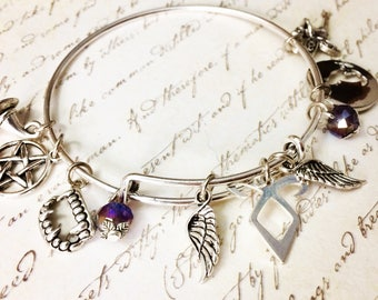 Shadowhunter tribute bangle, nephilim bracelet , cosplay , book lover