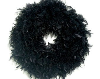 Black feather wreath