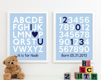 Personalized New Baby Boy Gift for Baby Boy, Newborn Baby Boy Gift for Nursery Gift for Boy, Nursery Art for Boys