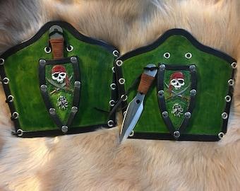 Pirate skull Bracers with dagger holder
