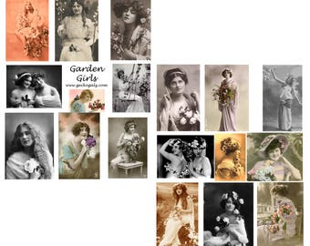 Garden Girls Collage Set
