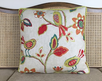 Bird In The Flowers Pillow Cover