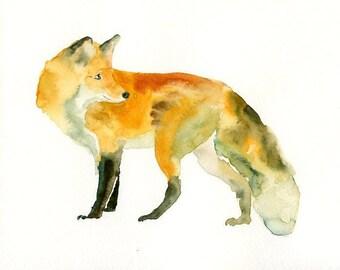 FOX- 10x8inch print-Children's Decor-Art for Children-kids wall art-Nursery art -Animal lover