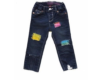 Girls Distressed Denim, Girls Patched Jeans, Girls Skinny Jeans, Girls Distressed Denim Skinny Jeans, Girls Denim, Girls Jeans, Distressed