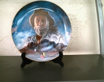"""De Grazia Limited Edition Collector Plate """" The Superstition Mountain """" Artist of the World 1983"""
