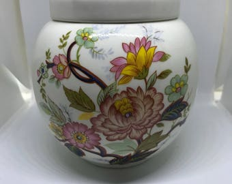 Vintage Sadler Ginger Jar, Floral Ginger Jar, Ginger Jar