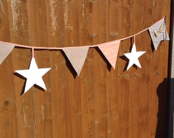 Grey and pink bunting