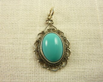 Vintage Mexican Sterling and Glass Charm or Pendant