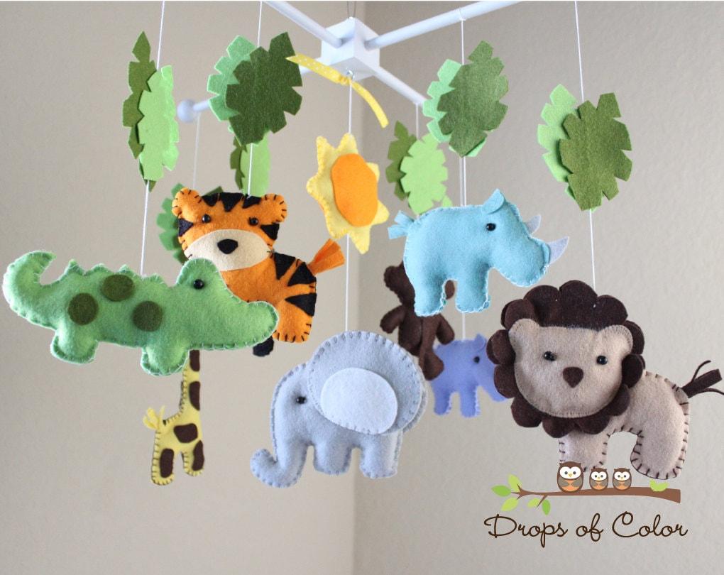 Safari Baby Mobile Animals Baby Crib Mobile Neutral Girl