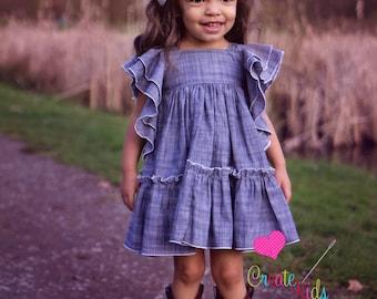 Emily's Babies Angel Sleeve Dress PDF Pattern in sizes newborn to 18/24 mos.