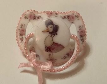 Vintage rose Jemima   magnetic reborn doll dummy pacifier