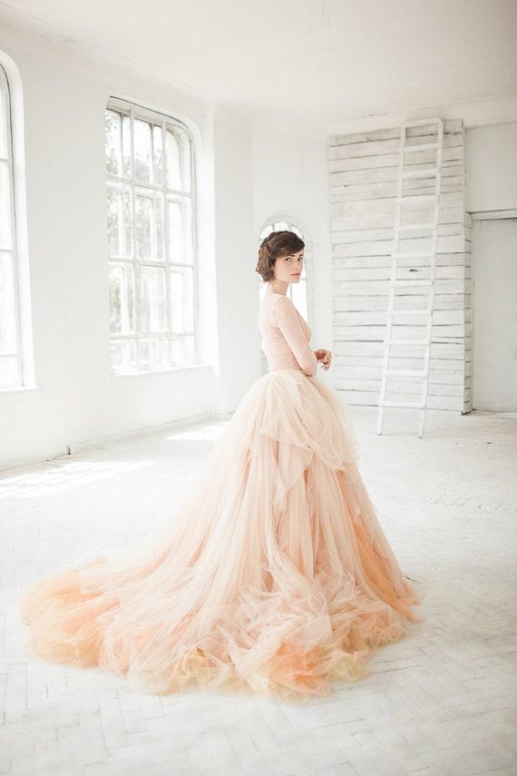 Nude tulle wedding skirt peony bridal separates blush junglespirit Images