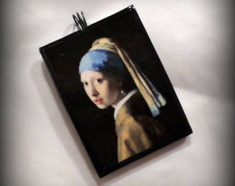 The Girl With The Pearl Earring Pendant Johannes Vermeer Handmade Polymer Clay