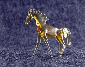 Color Glass big horse.Figurine horse.Figurine Glass.Figurine.Glass Animal.Sculpture Glass.Art horse.Figure horse.Figure gift.lampwork(hl1)