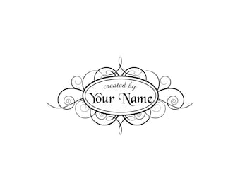 Handle Mounted or Cling Personalized Name custom made rubber stamps C42 scrapbook