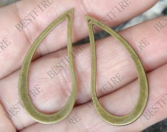 10 pcs of Antique Bronze plated brass tear Drop connector links,fancy jumpring,metal bead,findings, Drop connector links