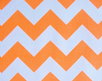 Riley Blake Designs Neon Orange Chevron Medium Quilting Apparel Fabric By The Yard