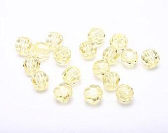 C093-[4321]-120pcs Swarovski Crystal 5000 4mm- Jonquil