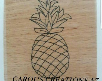Pineapple Stamp / Rubber Stamp / Craft Supplies / Fruit Stamp / Paper Crafts