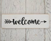 Welcome Sign | White with...