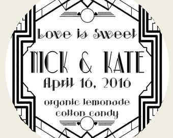 10 Art Deco Party Favors - Organic Cotton Candy