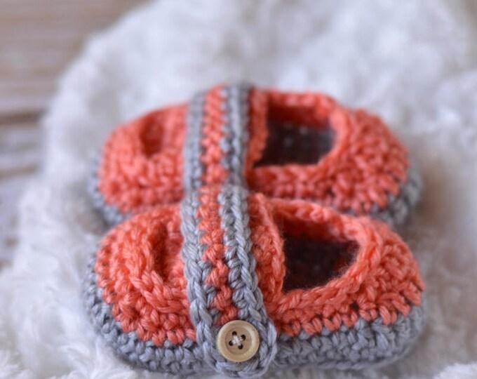 CROCHET PATTERN: Monk Strap Booties Crochet Pattern pdf DOWNLOAD