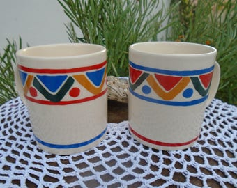 2 taza vintage 80s - publicidad MOBIL - café o té