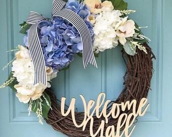 Welcome Y'all Laser Cut! Wreath Decor/ Home Decor / Door Hanger