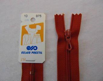 Zip closure, nylon, caramel brown (Z51 975)