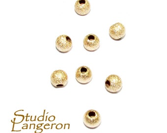 Solid gold beads Etsy
