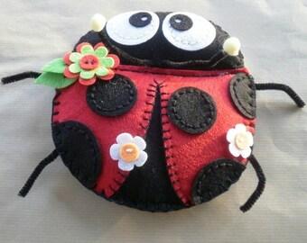Lovely Ladybug felt, for decoration