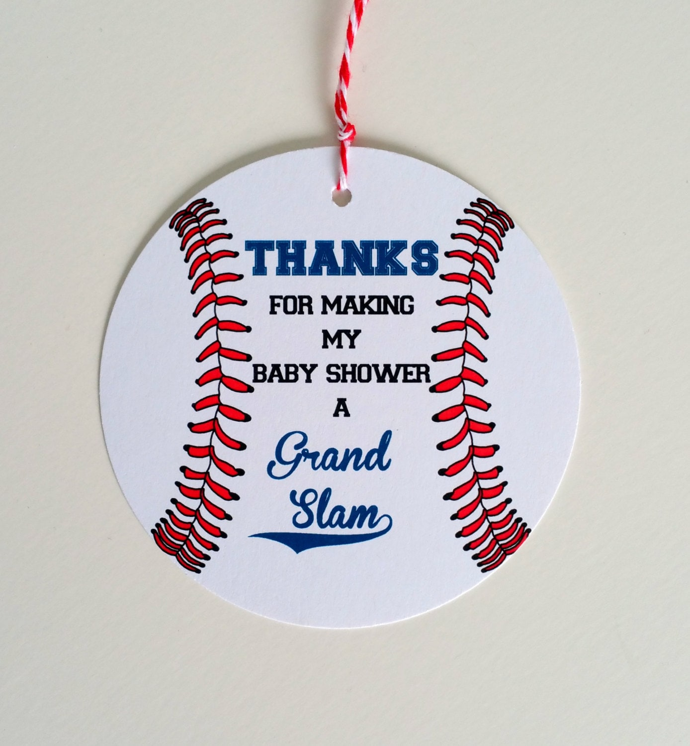 Set of 12 Baseball Baby Shower Favor Tag Baseball Theme Baby Shower ...
