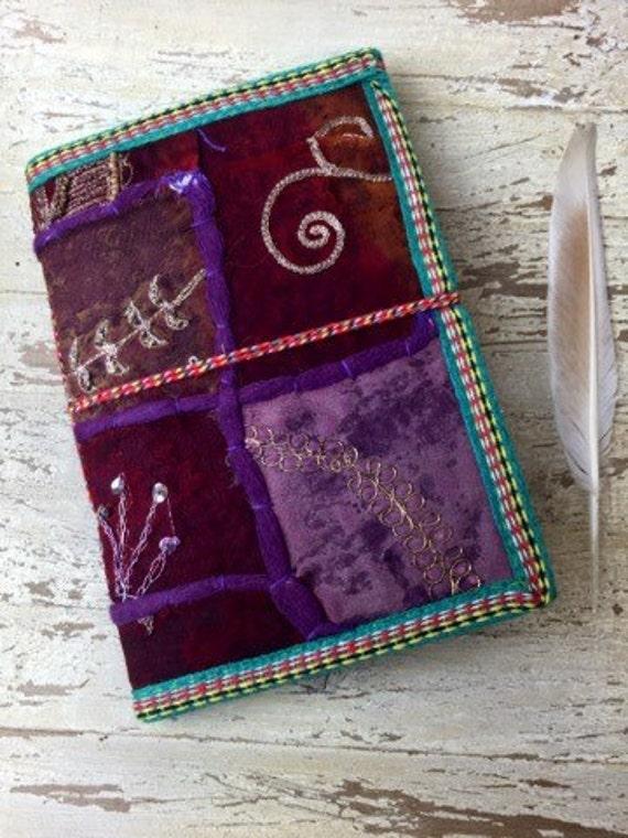 PURPLE SARI JOURNAL - Indian sari notebook -Student -Journal -Back to school -Sketch book -Diary- Planner- Stocking Filler- Gift- Scrapbook
