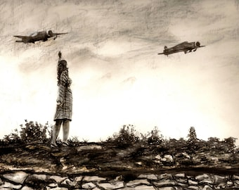 Print of WWII drawing