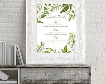 Reception Signs/Our Wedding Day - Whispering Garden (Style 13799)