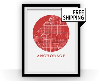 Anchorage Map Print - City Map Poster