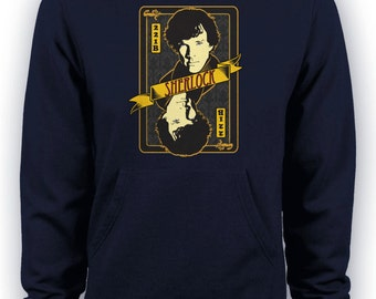 OOAK Sherlock Wallpaper Bored! Collection Cotton Hoodie Super Awesome! XFZWI2o