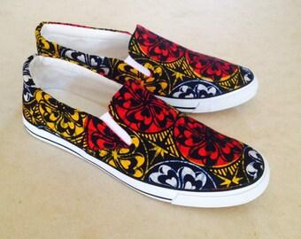 Sneakers, Men sneakers, Elegant sneakers,Ankara sneakers,Women sneakers, Unisex sneakers,African print sneakers,kente kicks,kente shoes