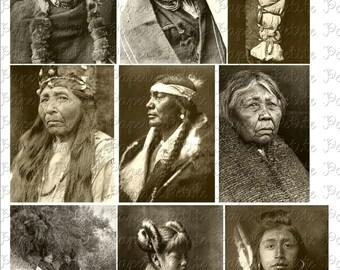 Native American Portraits Digital Download Collage Sheet