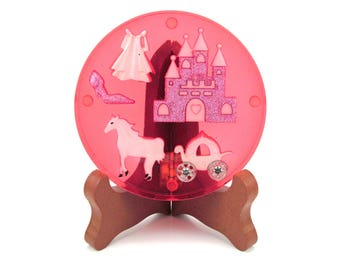 Cinderella's Ball Handmade Resin Coaster 0305