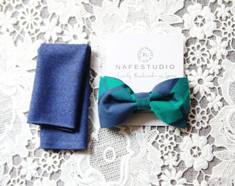 Men's Bow Tie Pre-tied Bow Tie For Men - Forest Green Bow Tie Blue Bow Tie - Mens Gift Wedding Gifts Groomsmen Wedding Groom Bow Tie