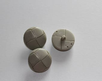 haberdashery button supplies round fancy gray faux leather