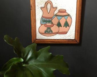 Vintage Southwestern Pottery Trivet