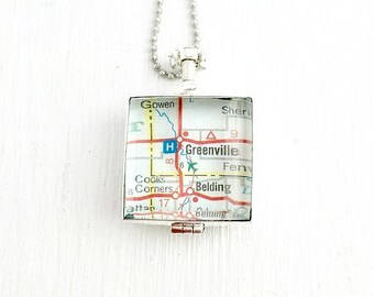 Glass Locket Necklace - Add Your Own Photo Map or Keepsake. Double Sided Locket Jewelry - Heirloom Jewelry - Personalized Locket