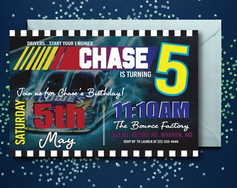 Nascar invitations etsy nascar birthday invitations nascar party racing start your engines racing invitation filmwisefo Choice Image