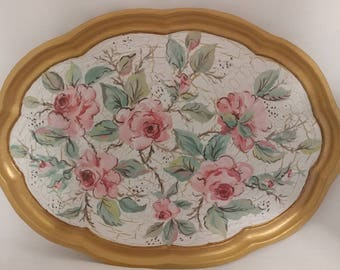 Rose Serving Tray