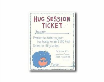 Fun love card, Hug note card, Hugging card, humorous love card,  Kids humour love card