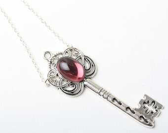 Key Necklace, Silver Key Necklace, Vintage Key Necklace, Filigree Key Necklace, Skeleton Key Necklace, Victorian Key Necklace, birthday gift