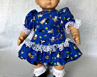 Bitty Baby - Bitty Baby Doll clothes - Bitty Baby Dress - fits Bitty Baby and other 15 inch dolls.